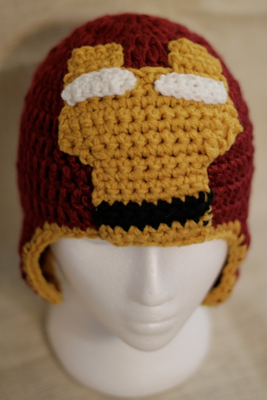 Free Crochet Pattern Iron Man Hat : Iron Man Crochet Hat bonnyknits