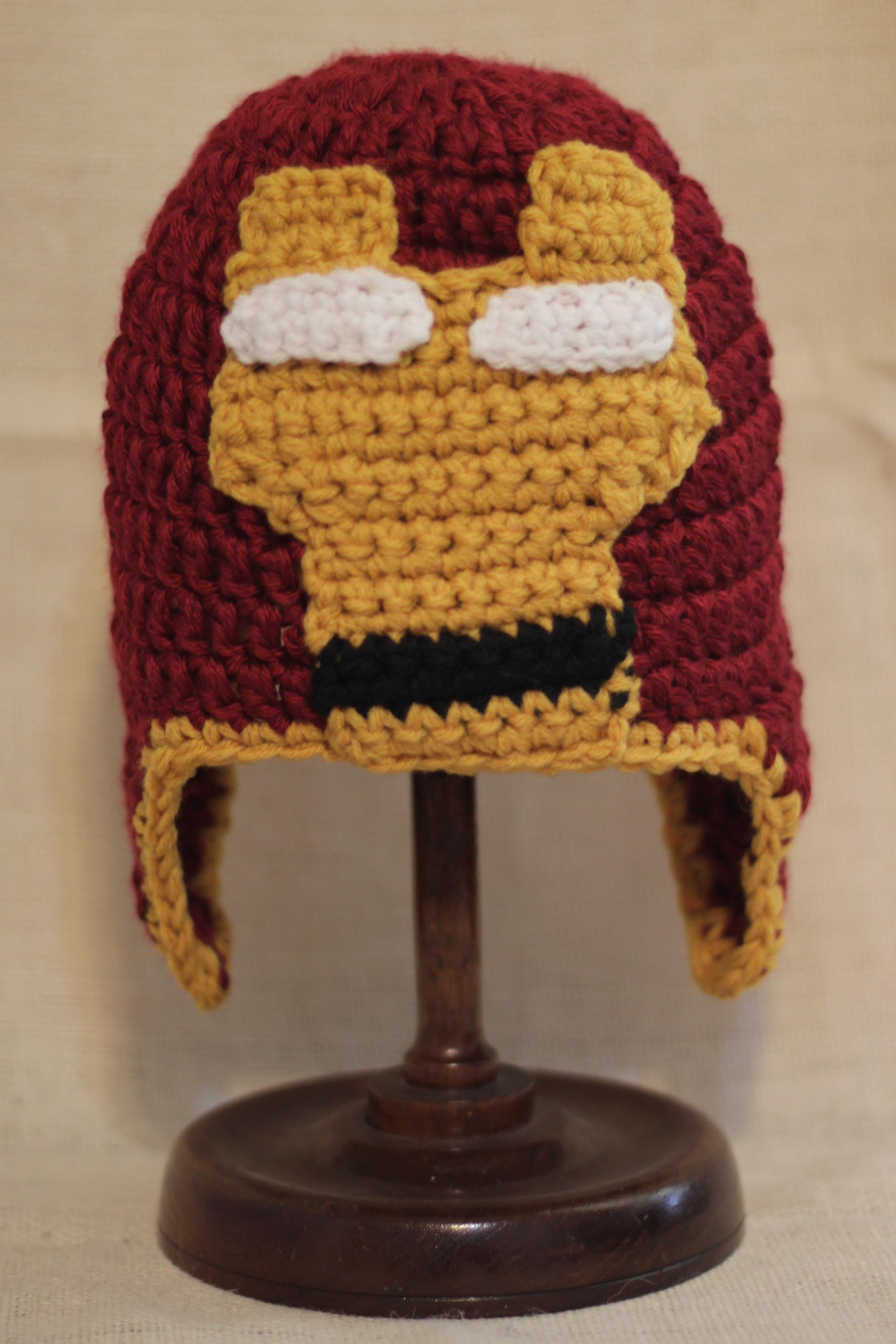 Iron Man Crochet Hat bonnyknits